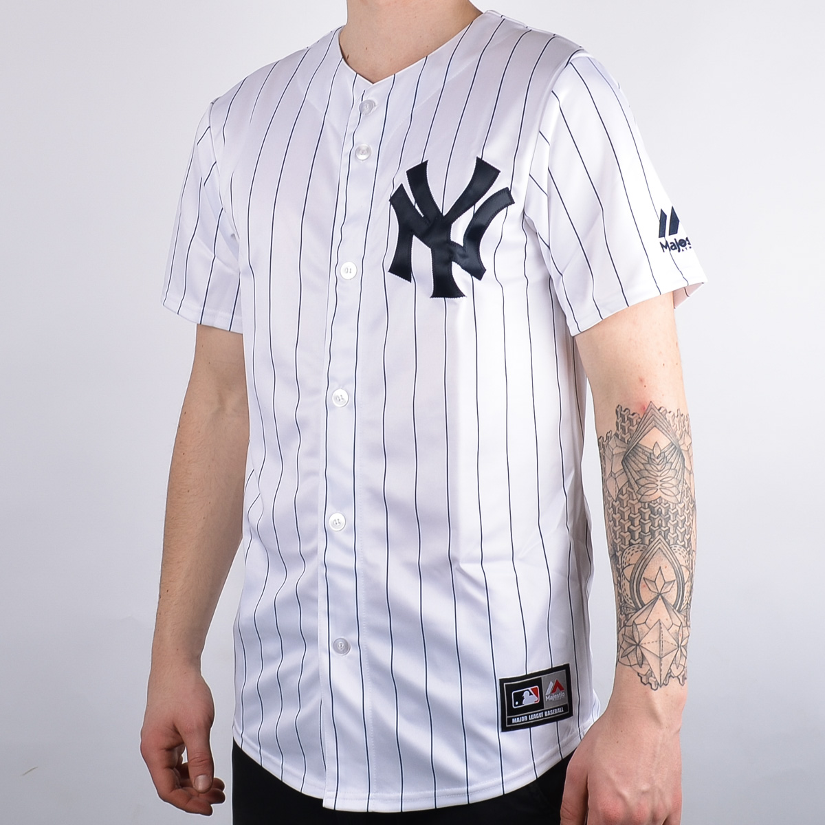 Majestic MLB New York Yankees Replica Baseball Jersey - MLB NFL NHL SHOP  MLB Merchandise - Superfanas.lt d0c41b02a09