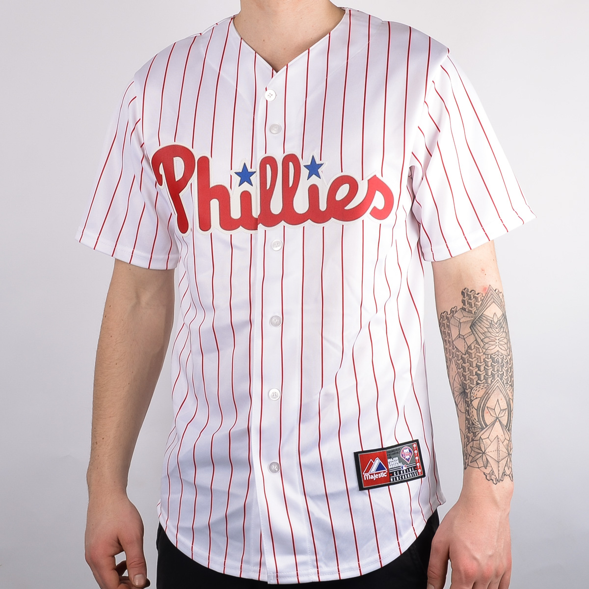 a52778c0240 Majestic MLB Philadelphia Phillies Replica Baseball Jersey - MLB NFL NHL  SHOP MLB Merchandise - Superfanas.lt
