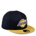 New Era Densuede Los Angeles Lakers Denim Fitted kepurė