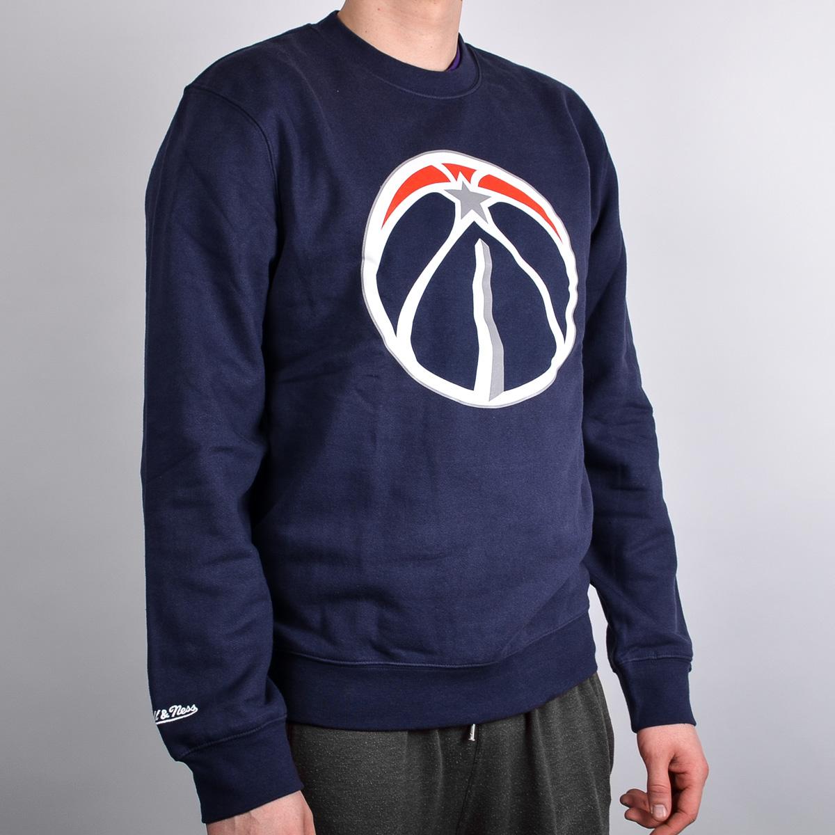 Mitchell   Ness Washington Wizards Team Logo Crewneck - NBA Shop Washington  Wizards Merchandise - Superfanas.lt ae17d91e9
