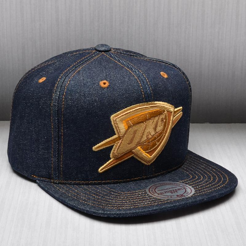 a072f0fcf86 Mitchell & Ness Oklahoma City Thunder Dark Denim Snapback Cap - NBA Shop OKC  Thunder Merchandise - Superfanas.lt