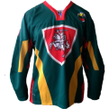 Lithuania authentic ice hockey green jersey RETRO